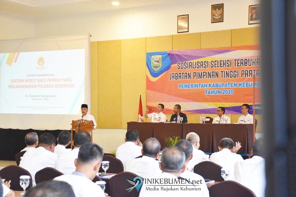 Seleksi Terbuka Jabatan Pimpinan Tinggi Pratama Mulai Disosialisasikan