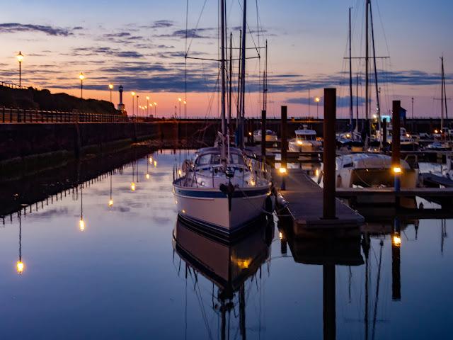 Photo of calm conditions on Sunday evening at Maryport Marina