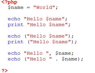 Statement echo dan print dalam PHP