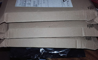 parcels in the mail from AwesomeBooks