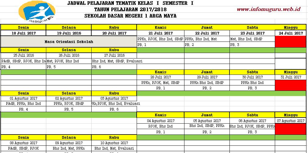 Link Download Aplikasi Jadwal Pembelajaran K13