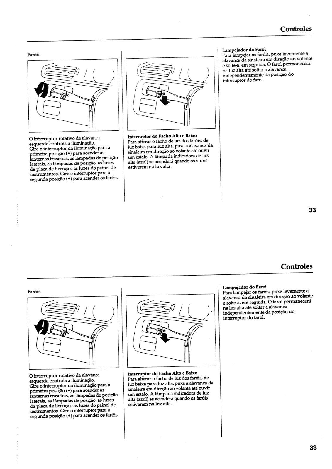 MANUAIS DO PROPRIETÁRIO GRÁTIS: MANUAL DO HONDA CIVIC 1994