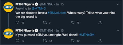 MTN announce eSIM launch on Twitter