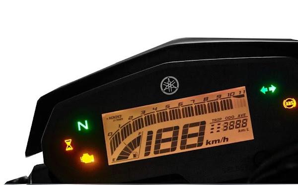 Yamaha Fazer FZ250 ABS 2022 - painel digital