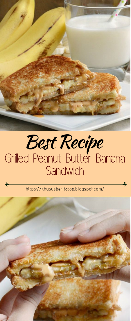 Grilled Peanut Butter Banana Sandwich #healthyfood #dietketo #breakfast #food