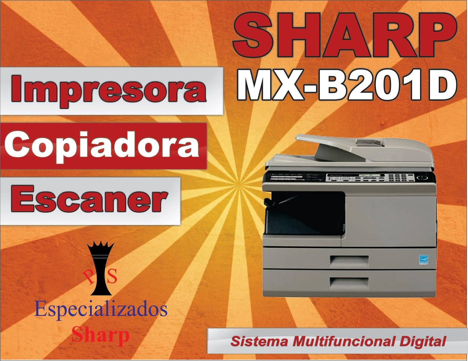 Copiadora Sharp Mxb201d Carta Y Oficio 20 Xmin 6 999
