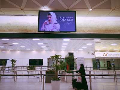 Jacqueline Fernandez makes history as she featured on Saudi Arabia Airport