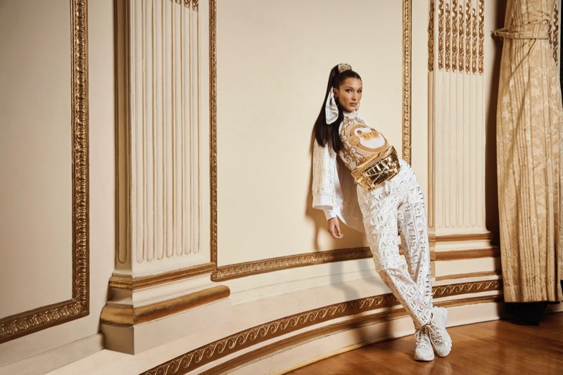 Bella Hadid is fiercely chic for the Kith x Versace Campaign