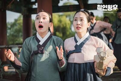 dayang choi dan hong yeon yang selalu menemani ratu