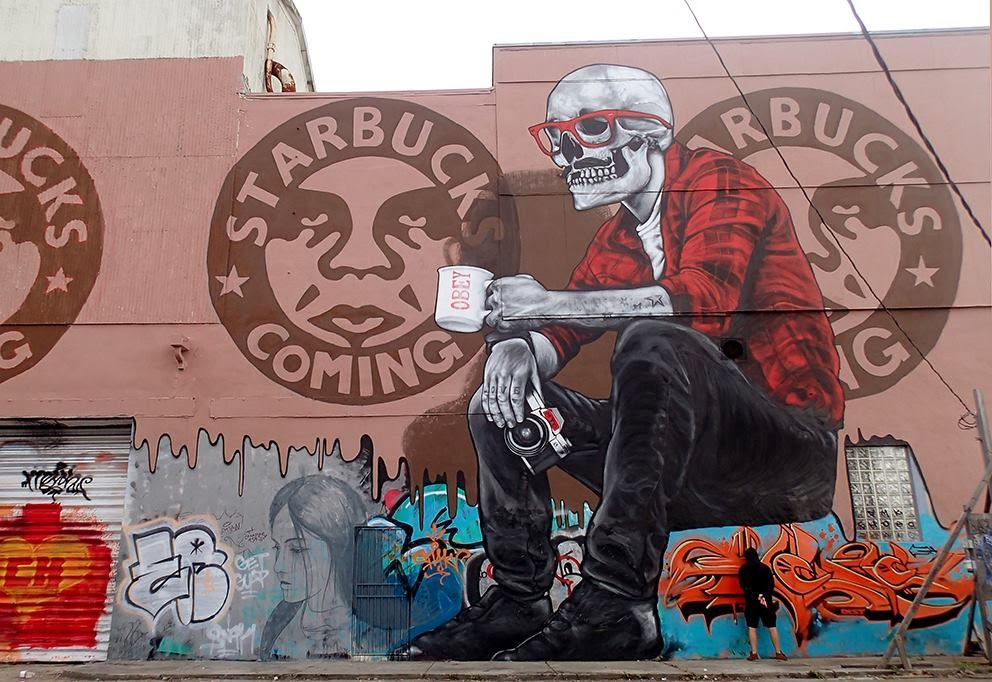 "French street artist MTO was also in Wynwood, Miami where he worked on this piece entitled ""The Death Of The Neighborhood"". It took a few days for MTO to complete this artwork which represents quite a strong statement over the local gentrification."