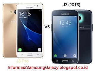 Perbandingan Samsung Galaxy J3 Pro vs J2 (2016)