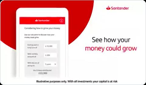 Santander – Savings and investments calculator