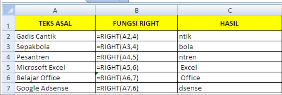 Fungsi Text dalam Microsoft Excel , beserta penjelasan dan ...