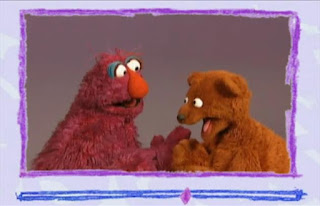 Telly and Baby Bear play pattycake by singing nursery rhymes and banging their hands. Sesame Street Elmo's World Hands Video E-Mail