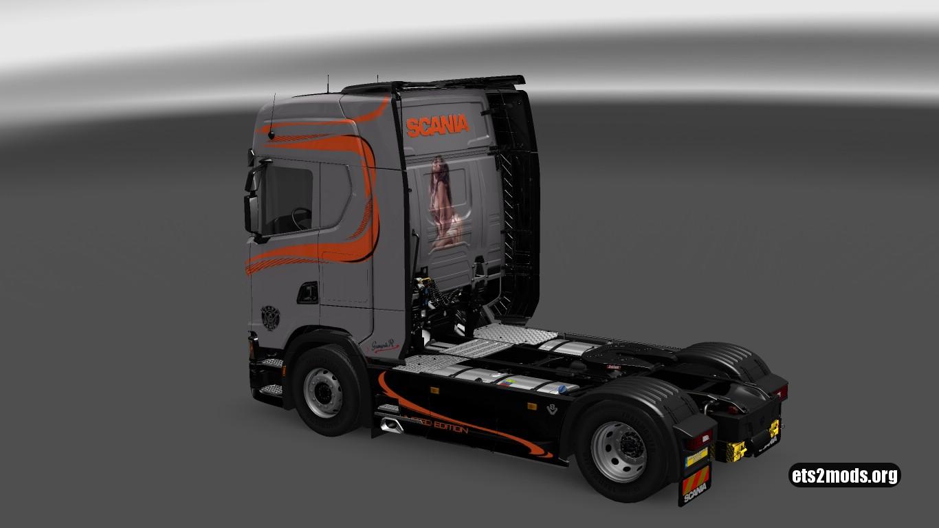 Scania S580 GangsteR Truck Skins Pack v3
