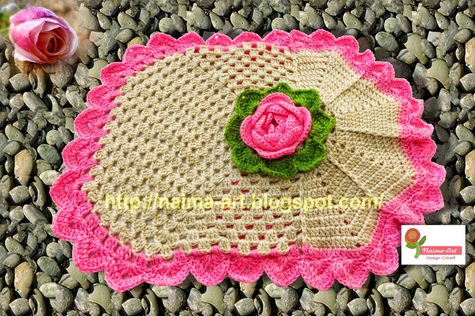 naima art crochet bathroom sets crochet pour salle de bain. Black Bedroom Furniture Sets. Home Design Ideas