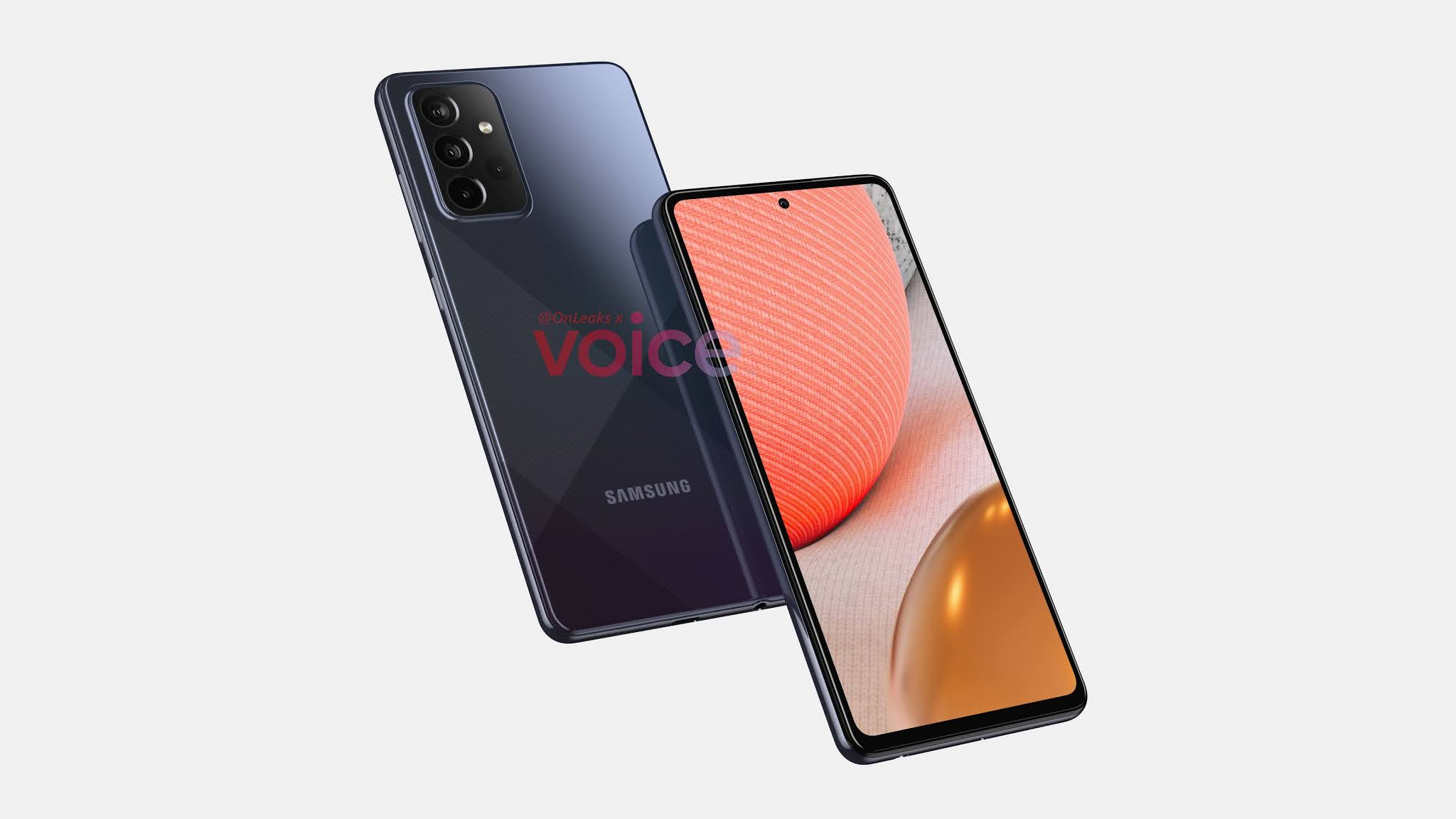 Samsung Galaxy A72 first official renders released the complete design