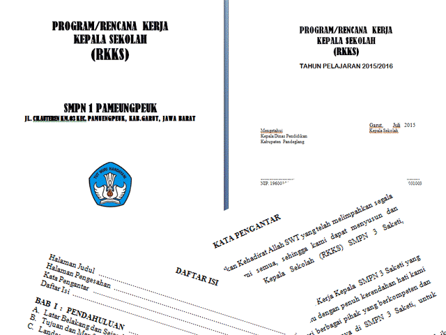 Contoh Format Program Rencana Kerja Kepala Sekolah ( RKKS )