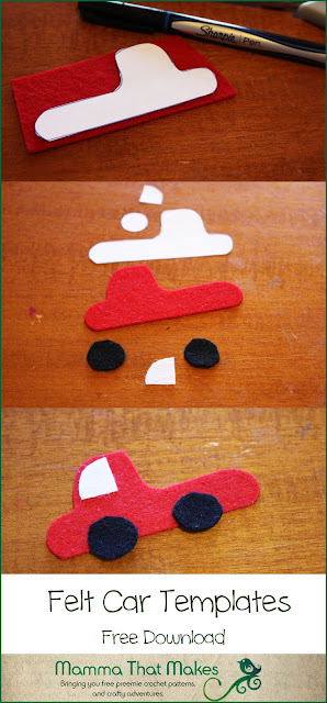 Felt Board Shapes - Cars