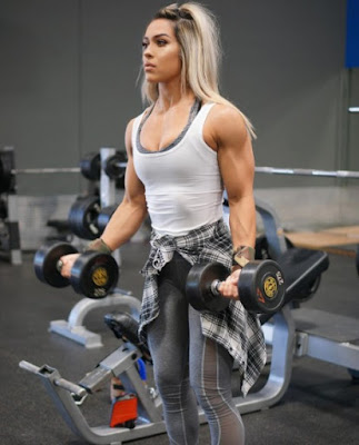 Cass Martin lifts weights