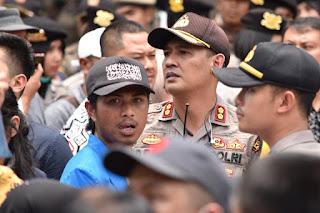Ada Kapolres di Tengah Aksi Demonstrasi Mahasiswa di Payakumbuh