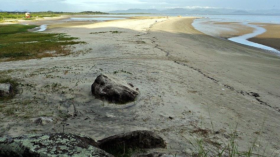 Praia do Forte, em São Francisco do Sul. Vista da varanda do quarto
