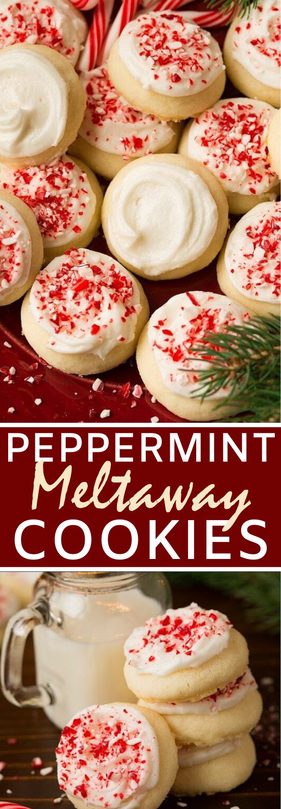 Peppermint Meltaway Cookies #cookies #recipe #baking #holiday #desserts