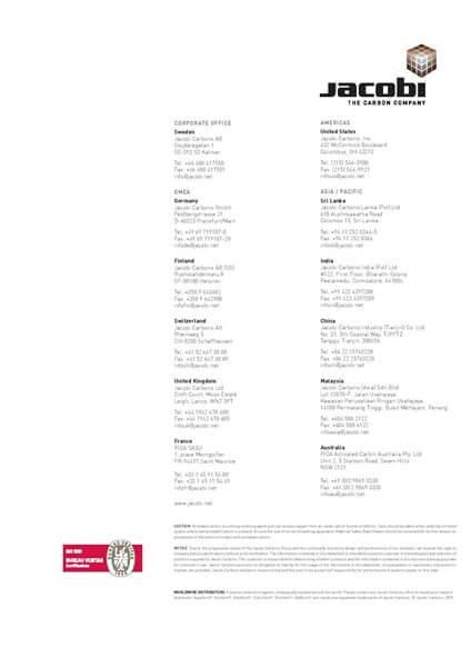 Technical Data Sheet (TDS) Karbon Aktif Jacobi AquaSorb 5000