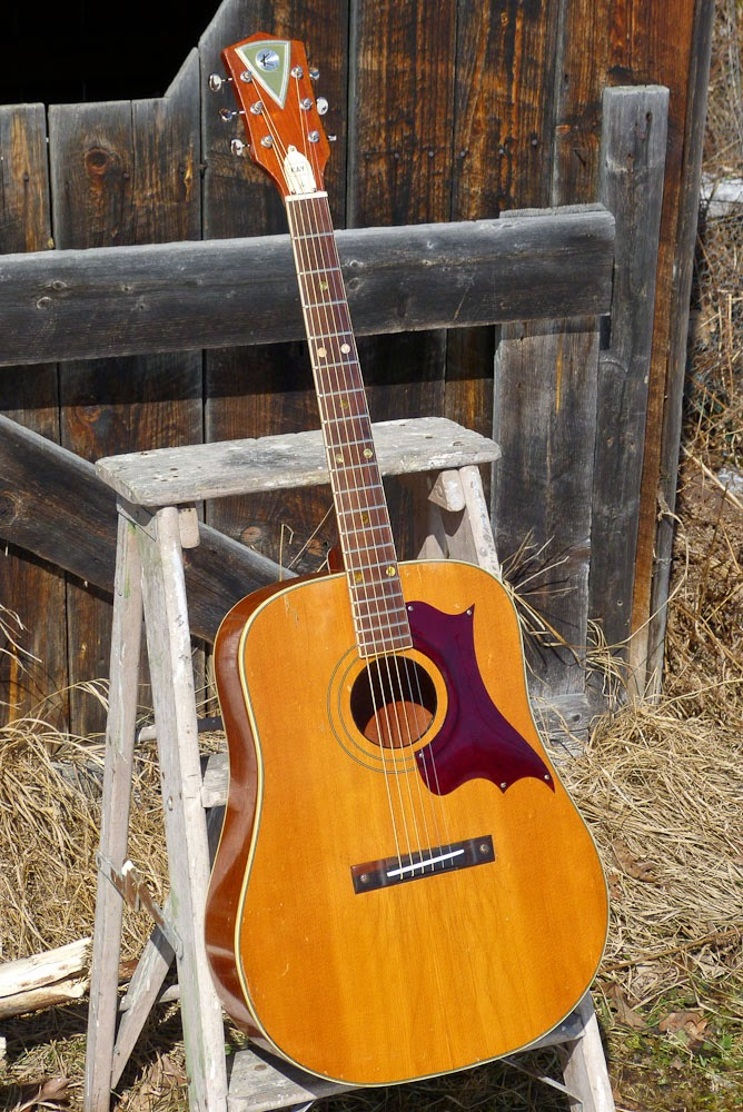 Jake Wildwood 1960s Kay K6109 X Braced Dreadnought Guitar