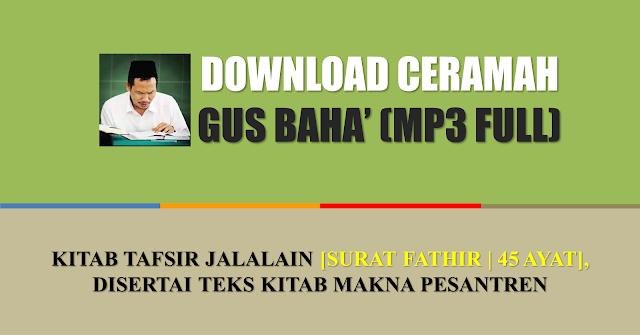 mp3 full gus baha tafsir jalalain download full mp3