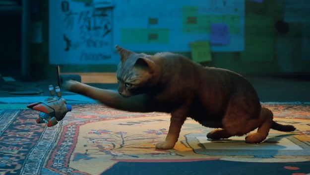 See how Stray is played, an adventure with a cat in the SF world