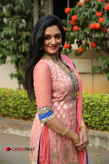 Actress Vimala Raman Stills in Beautiful Pink Salwar Kameez at (ONV) Om Namo Venkatesaya Press Meet  0177.JPG