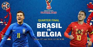 Susunan Pemain Brasil vs Belgia  - Perempatfinal Piala Dunia 2018