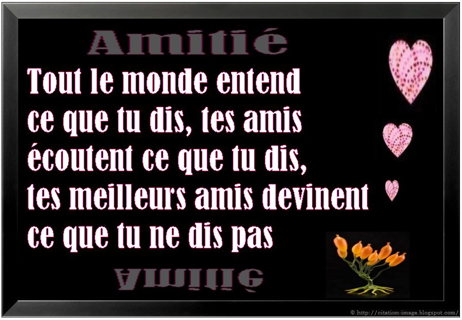 Belle citation amitié en image ~ Citation en image : photo citation