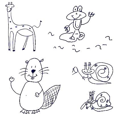 Dibujos para niños en 30 segundos - Corriendo sin zapatillas