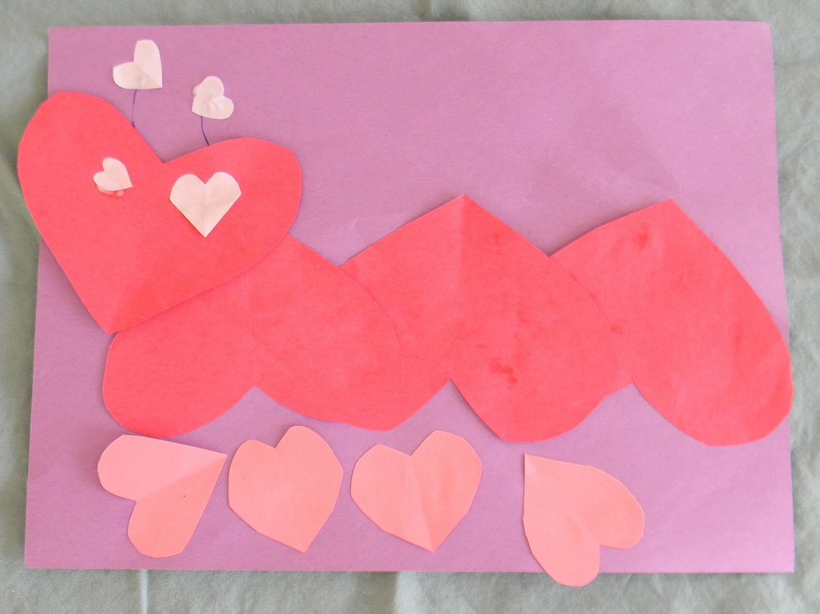Preschool Crafts For Kids Valentine S Day Heart Caterpillar Preschool Craft