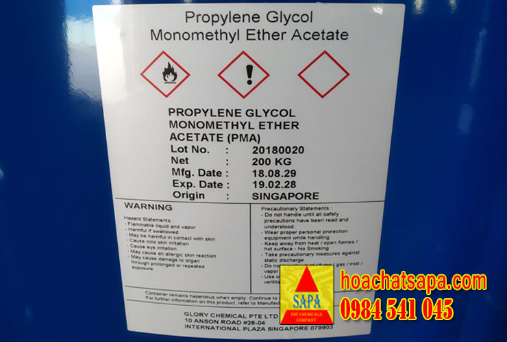 Dung Môi PMA - Propylene Glycol Monomethyl Ether Acetate