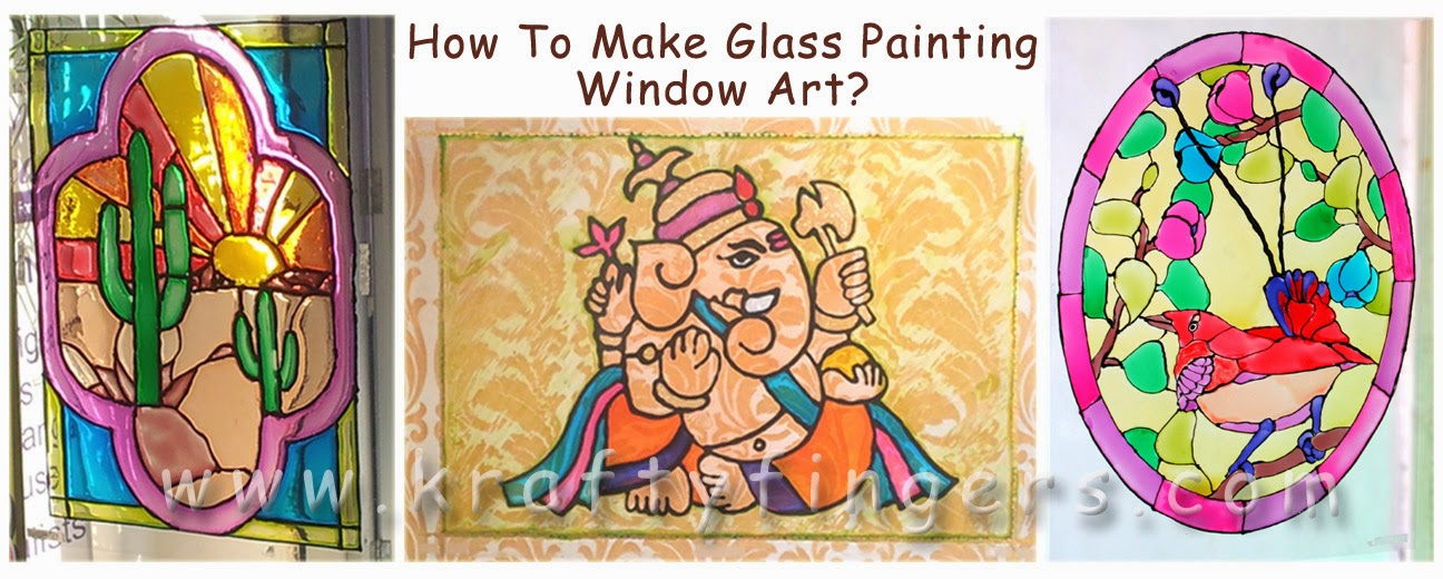 How To Make Glass Painting Window Art