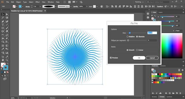 How to make Realistic Eye Lens in Adobe Illustrator?
