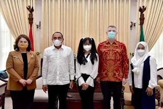 Apresiasi Finalis The Voice Kids Indonesia, Gubernur Edy Rahmayadi Ajak Warga Sumut Dukung Nikita Mawarni