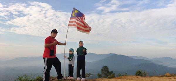 Tempat Hiking di Bukit Jelutong Terengganu
