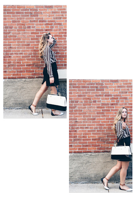 work outfit inspiration intern chic black and white