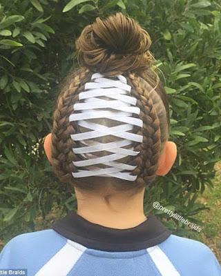 peinados infantiles para niñas con cintas