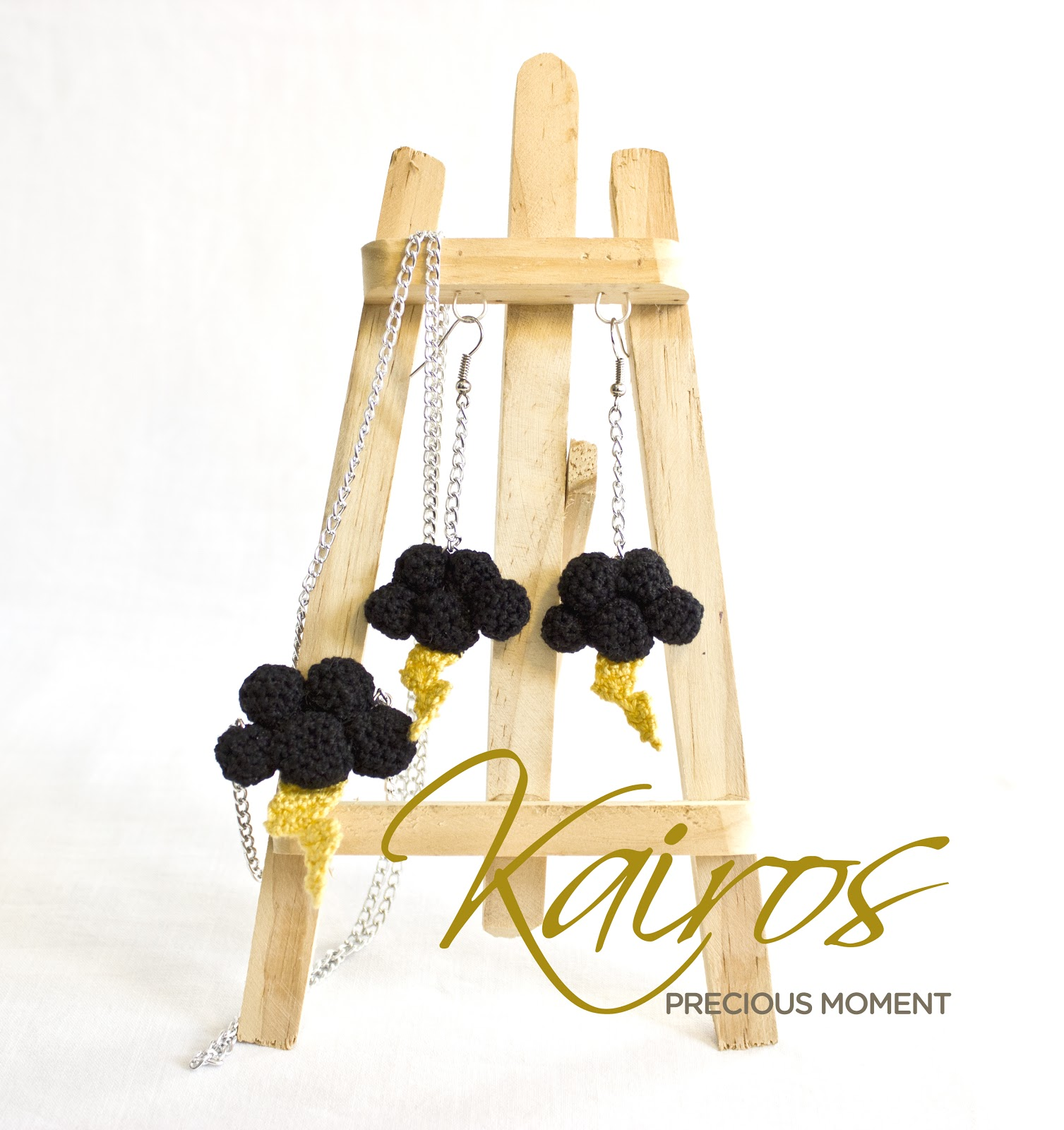 "Kairos Necklace: Kairos Precious Moment: ""Thunder"" Earrings & Necklace"