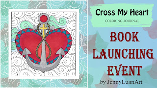 cross my heart coloring journal book launching event