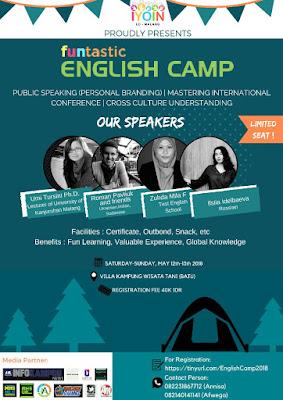 IYOIN ENGLISH Camp 12-13 Mei 2k18