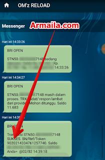Proses Tembak Paket Nelpon Telkomsel 1000 dan 100 Menit All Operator sukses dan akan muncul SN paket tersebut