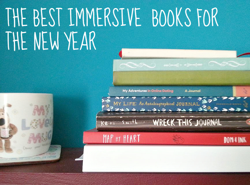Formidable Joy - UK Fashion, Beauty & Lifestyle Blog | Lifestyle | Immersive Books For The New Year; Formidable Joy; Formidable Joy Blog; Immersive Books; Creative Books; Wreck This Journal; Map My Heart; Listography