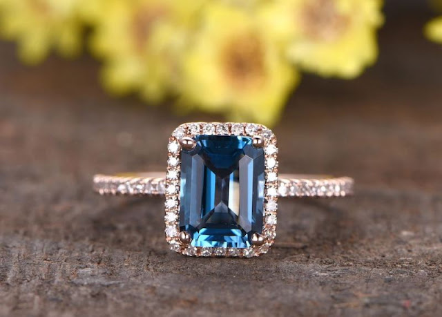 Non Diamond Engagement Rings Topaz