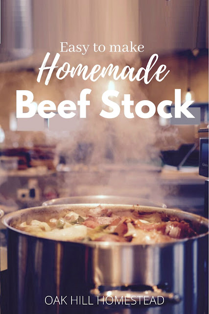 Homemade beef stock - Learn why it's so healthy, how simple it is to make, how to use it and how to preserve it for later use in this article from Oak Hill Homestead.